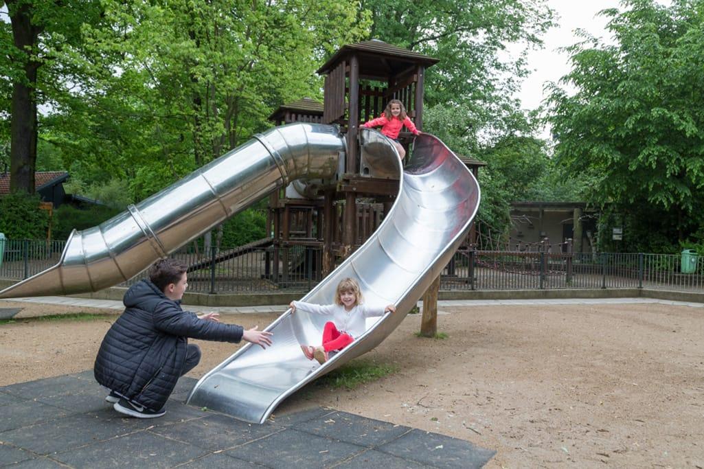 Zoo Magdeburg Spielplatz Rutsche