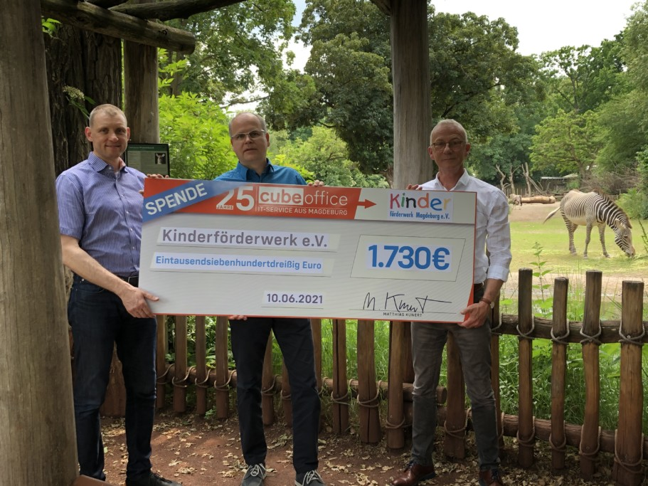 cubeoffice gmbH & Co.KG spendiert Zoo-Tourenpakete an Kinderförderwerk Magdeburg e.V.